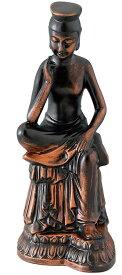 陶器の仏像 金ミロク菩薩 中