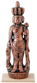 陶器の仏像 金十一面観音 大
