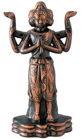 陶器の仏像 金阿修羅 大