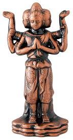 陶器の仏像 金阿修羅 小