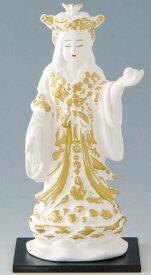 陶器の仏像 吉祥天 小