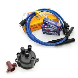 ジムニー 電装 セット ディストリビュータキャップ&ロータアッシ NGKプラグコード&NGKイリジウムMAXプラグ JA11/JA12 F6A 33321-85570-33310-85570 純正部品