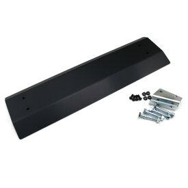 ジムニー エクステリア フロント スキッド プレート ブラック アルマイト ステー付 JB23 アルミ製