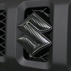ジムニー インテリア カーボンシート フロントグリル用 スズキロゴマーク ステッカー 新型ジムニー JB74 JB64