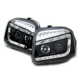 ジムニー ライト LED プロジェクターヘッドライト ブラック 左右セット シャークヘッドライト JB23