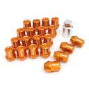 ジムニー タイヤ ジュラルミンロック&ナットセット L32 ストレートタイプ オレンジ/ブルー/レッド 5H用 M12×M1.25 DURA-NUTS レイズ ...