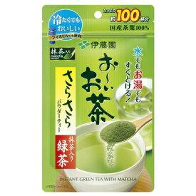 【2ケース】伊藤園 おーいお茶 抹茶入りさらさら緑茶 80g(約100杯分)×6袋 ×2箱 合計12袋 日本茶 緑茶 まとめ買い