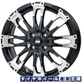 【送料無料】 KENDA ケンダ KR23A 165/60R15 マッドクロス ウルフ 4.5J-15インチ メタリックブラック/リムポリッシュ 新品 サマータイヤ ホイール4本セット