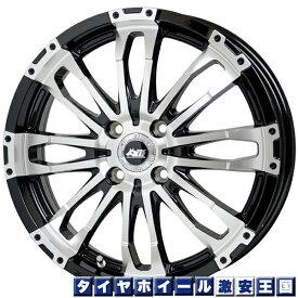 【送料無料】 ナンカン N889 M/T 165/60R15 マッドクロス ウルフ 4.5J-15インチ メタリックブラック/フルポリッシュ 新品 サマータイヤ ホイール4本セット