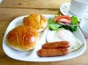 お待たせしました。再入荷!! 白い食器 大人気ランチプレート 21.5cm【日本製 美濃焼 人気 仕切り皿】【RCP】【5000円以上で送料無料!!】【532P17Sep16】