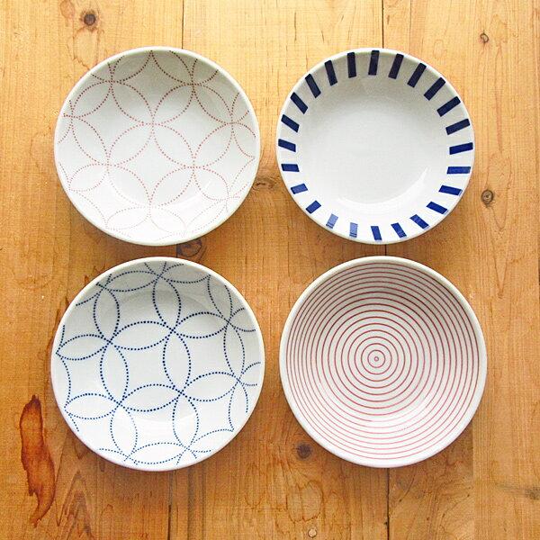 4柄から選べます 和食器 モダン小鉢 14cm 【 小鉢 取り皿 白 ブルー KOUSUI 日本製 美濃焼 アウトレット込み 丸 】