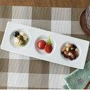 【クーポン利用で最大15%OFF】三つ仕切りプレート 26.7cm 中皿 日本製 美濃焼 陶器 陶磁器 食器 洋食器 白い食器 カ…
