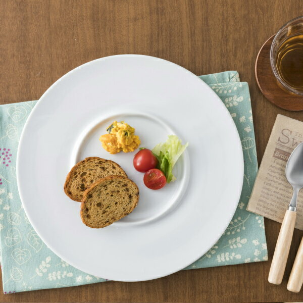 家カフェグレードアップ リングシリーズ 27cmプレート 白い食器