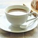 コーヒーカップ and ソーサー 220cc ティーカップ 白い食器 カフェ ポーセリンアーツ 日本製 陶器 美濃焼 磁器 アウトレット 業務用にも/キャッシュレス 還元
