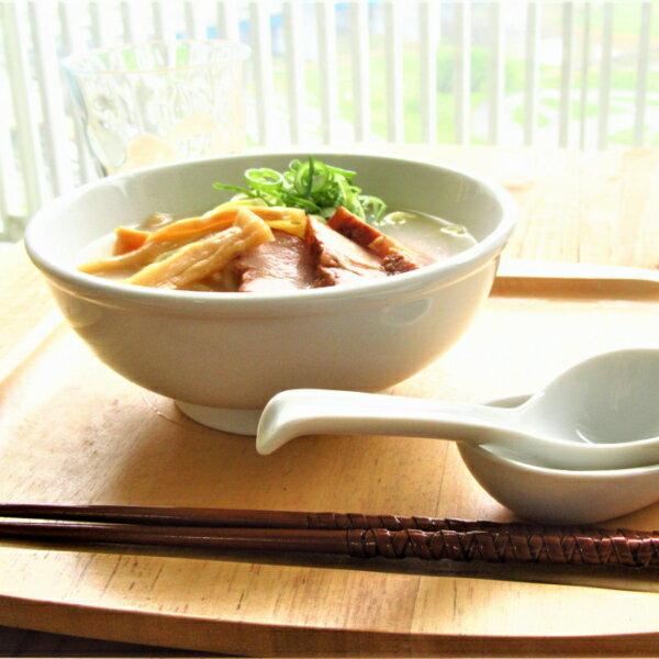 白い食器 小さい ラーメン丼ぶり 550cc アウトレット 日本製 ラーメン鉢 美濃焼 陶磁器 業務用にも