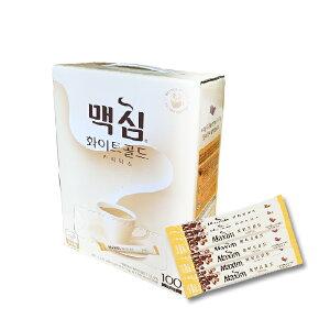MAXIM【ホワイトゴールド】コーヒーミックス 100本【スティック】★マキシム /インスタントコーヒー /韓国コーヒー /韓国食材 /韓国食品