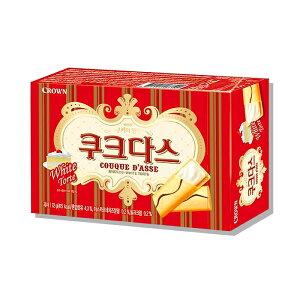 CROWN【ククダス】ホワイトチョコ入り クッキー 64g ★お菓子 /おつまみ /クラウン /ホワイトチョコ /韓国食品 /韓国お菓子 /韓国食材【甘いホワイトチョコ挟んだ高級感あふれるお菓子