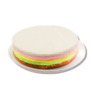 【韓国伝統餅】円形【ムジゲ:虹】餅ケーキ (約3.5kg:30cm×5cm) ★伝統餅 /手作り餅 /韓国料理 /韓国食品 【米粉にそれぞれの色を付けて、蒸したお餅】毎週火、金曜日出荷致します。