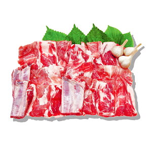 【開き】豚骨付きカルビ 1kg ★豚肉 /煮込み /カルビ /豚カルビ /焼肉 /骨付きカルビ /バーベキュー /BBQ /冷凍食材 /韓国食品【骨付き豚カルビのブロック】