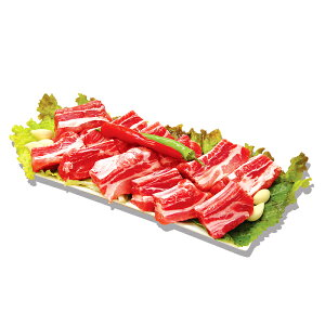 豚スペアリブカット(チム用カルビ用)1kg ★豚肉 /煮込み /カルビ /豚カルビ /焼肉 /骨付きカルビ /バーベキュー /BBQ /冷凍食材 /韓国食品【カットした豚カルビ】