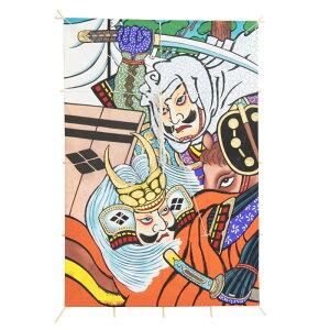 インテリア 手描き 和凧 角凧 [武者絵 川中島] 縦96×横65cm [ワ-2ヨ] お正月飾り