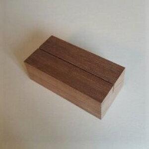 木のカード立て ウォールナット角長(木・木製カード立て)
