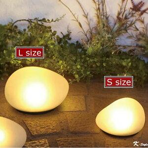 ソーラーライト 防滴 かわいい 明るい 玄関 センサーライト LED 屋外 庭 ガーデンライト イルミネーション 【K-Style】 LEDソーラーストーンS