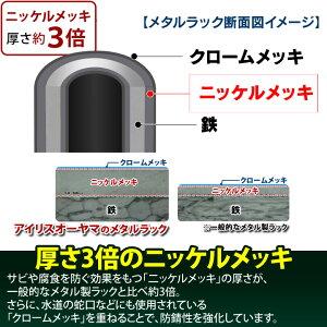 ≪送料無料≫メタルラック4段MR-1215J<棚1枚あたり耐荷重125kg!>(幅120×奥行46×高さ151cm)アイリスオーヤマ