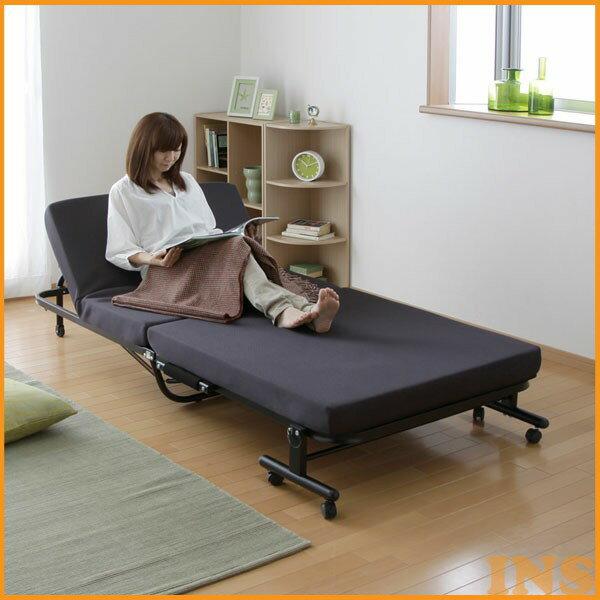 折りたたみベッド シングル OTB-KR アイリスオーヤマ送料無料 寝室 寝具 コンパクト 折りたたみ 一人暮らし 折畳み 折り畳み 収納 折り畳みベッド ベット キャスター付き 高反発 新生活