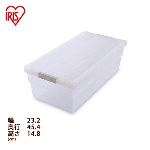本棚 収納ボックス 収納ケース 本 漫画 コミック本ストッカー 幅23.2×奥行45.4×高さ14.8 CMS-23 アイリスオーヤマコミック 一人暮らし 収納 ケース 透明 ボックス ベッド下 整理 整頓 積み重ね