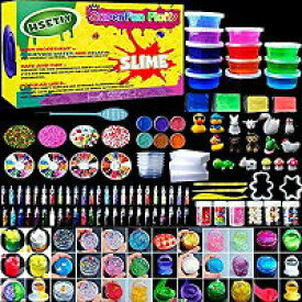 【あす楽】slime kitフリースライムおもちゃ、ふわふわスライム香りストレスリリーフバブルガムフレグランス スライムキット