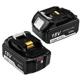 【あす楽】マキタ 18v バッテリー BL1860B 2個セット マキタ互換 バッテリー bl1860b 互換 6000mAh 残量表示付き BL1830 BL1840 BL1850 対応