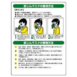 ユニット(UNIT)【820-26】粉じん障害防止標識 防じんマスク