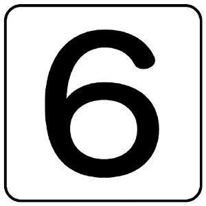 ユニット(UNIT)【AS-24-6L】配管ステッカー 数字6(大)