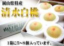 【岡山特産の清水白桃(山口新月園)】グランクリュ5〜8玉入り 今年は7月20日から出荷可能です