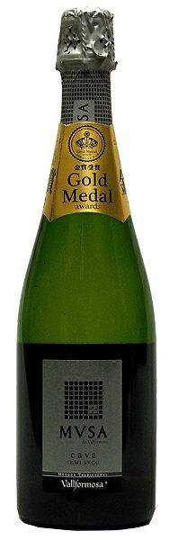 【ヴァルフォルモッサ】ムッサ・カヴァ・セミ・セコ[NV](スパークリングワイン・やや甘口)750ml スペイン カヴァ VALLFORMOSA MVSA CAVA SEMI SECO