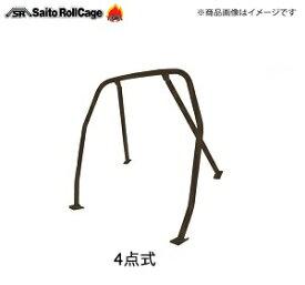 SAITO ROLLCAGE【サイトウロールケージ】40φ『スチール製』 [リア4点式]ロードスター NA・NB ※幌・ハードトップ兼用タイプ