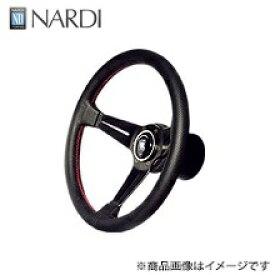 ナルディ(NARDI) スポーツ タイプラリー33φディープコーンタイプ[オフセット52mm]パンチングレザー/レッドステッチ