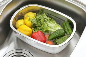 [下村企販] ステンレス製の小判型洗い桶 足付 キッチン 衛生的 ステンレス 洗い桶 シンク[ 5500円以上 送料無料 ]