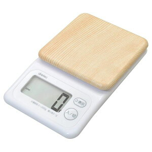 ドリテック デジタルスケール フォレスト 2kg ナチュラルウッド KS-276NW キッチンスケール はかり 計量 調理器具 デジタル
