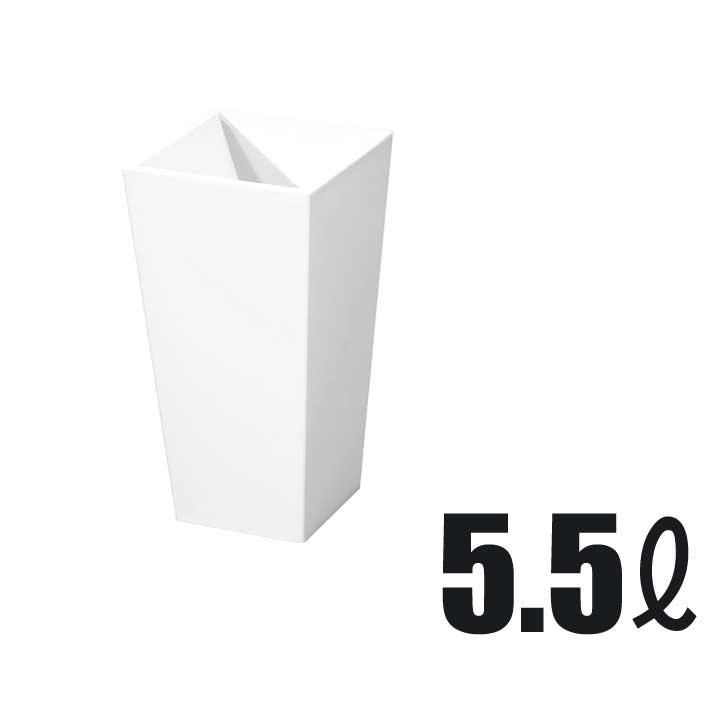 新輝合成 トンボ ユニード カクスS-28 ホワイト 5.5L ダストボックス ゴミ箱 隠す 見せない ごみ箱 お洒落 オシャレ おしゃれ シンプル 角型 スクエア[ 5400円以上 送料無料 ]