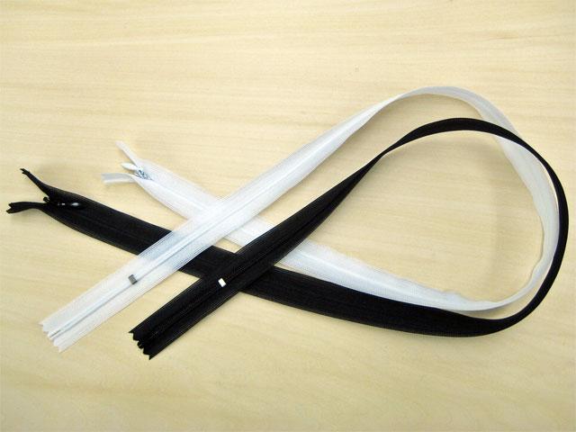 ≪メール便OK≫★YKKコンシールファスナー 70cm 薄地(2cc)  色:白・黒【RCP】【HLS_DU】