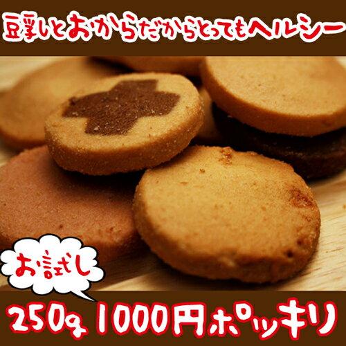 【メール便送料無料】【冬の豆乳おからクッキー お試し 250g】豆乳おからクッキー 訳あり おからクッキー 訳あり ダイエット わけあり品 ダイエットクッキー わけあり 置き換えダイエット 低GI 低カロリー 1000円 送料無料 ポッキリ【325111-250】
