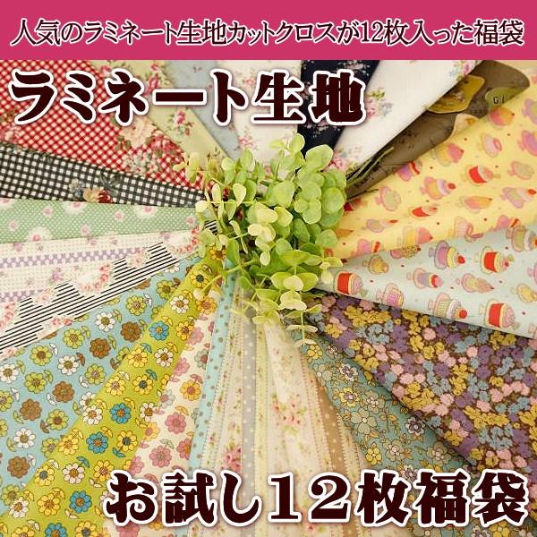 【メール便送料無料】リニューアル第4弾!ラミネート生地 カットクロス 12枚 お試し 福袋