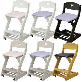 木製チェア 学習チェア キャスター付き 木製 子供用 椅子 ラバーウッド 座面PVC 木製チェア チェア 学習イス 勉強イス ダイニングチェア キッズ家具 子供部屋用
