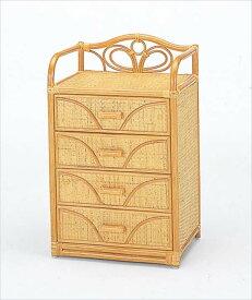 チェスト4杯タイプ W-700ライトブラウン 籐 籐家具 収納 チェスト アジアンリビングルーム籐ラタン製 輸入品 完成品