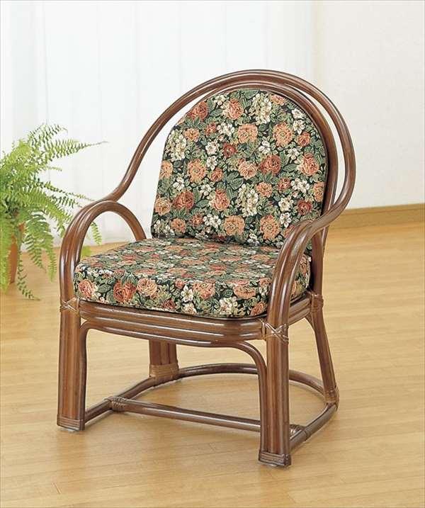【送料無料】 アームチェア Y-1000C ブラウン 籐 籐家具 ベンチ 椅子 イス アジアンリビングルーム籐ラタン製 輸入品 完成品