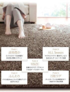 【送料無料】ラグホットカーペット対応洗えるラグマットシャギーラグセンターラグ絨毯ダイニングラグウォッシャブル正方形長方形マイクロファイバー%OFF激安リーズナブル