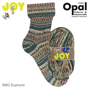 Opal Joy(ジョイ) 4ply 9982 靴下用毛糸 2021春コレクション 春 秋 冬 編み物 あみもの てあみ かぎ針 棒針 ニット 手編み 編み物 手芸 ハンドメイド 手作り