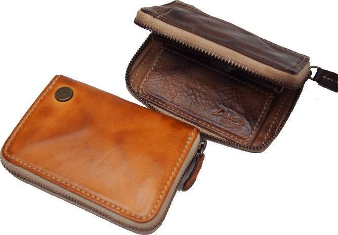 Dakotaダコタ ベルクコインケース、四方口タイプカードポケット付き